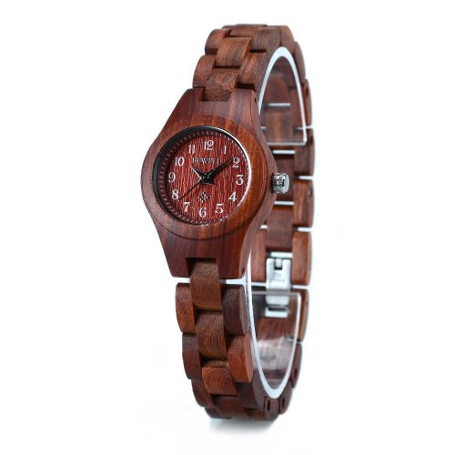 Wood Watch Lightweight with Arabic Numeral Scale Wrist Watch for Women