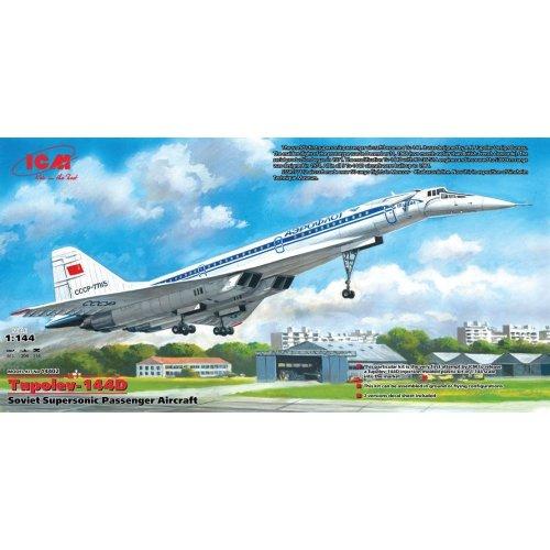 ICM 14402 Tu-144D Soviet Supersonic Passenger Aircraft Model Kit