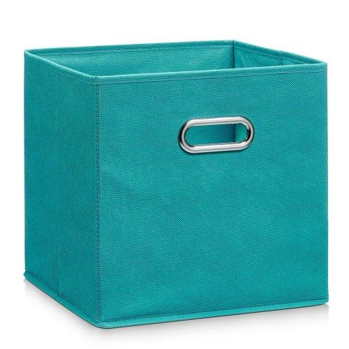 ZELLER-PRESENT 14138 Fleece Storage Box, Petrol