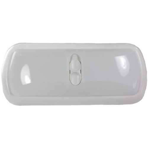 Arcon ARC-20726 Double LED Euro Light with White Lens, Bright White