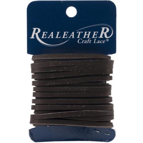 "Realeather Crafts Latigo Lace .125""X4yd Carded-Dark Brown"