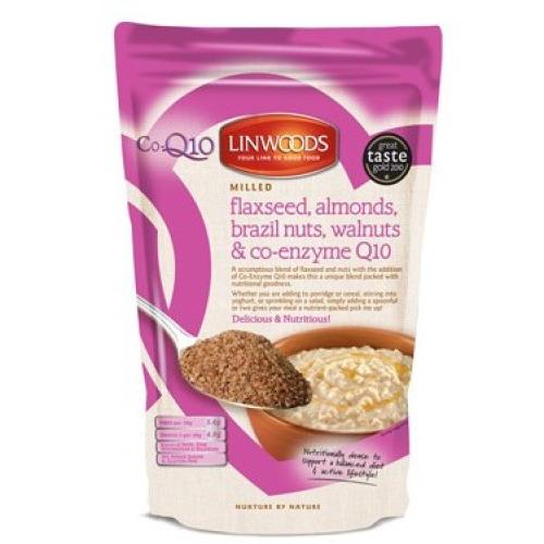 Linwoods Milled Flaxseed  Almonds  Brazil Nut  Walnuts & Q10 200g