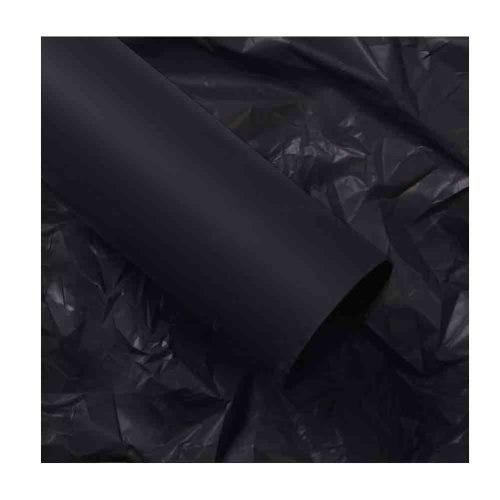 20 Sheets Soft Bouquet Wrapping Paper Waterproof Flower Packaging Lining Paper, Black