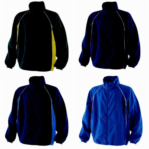 Finden & Hales Kids Unisex Piped Showerproof Training Jacket / Outerwear Sports