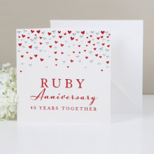 Amore Deluxe Card - Ruby Anniversary