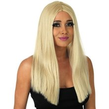 Long Blonde Wig -  ladies womens fancy dress classic long straight sexy quality wig without fringe