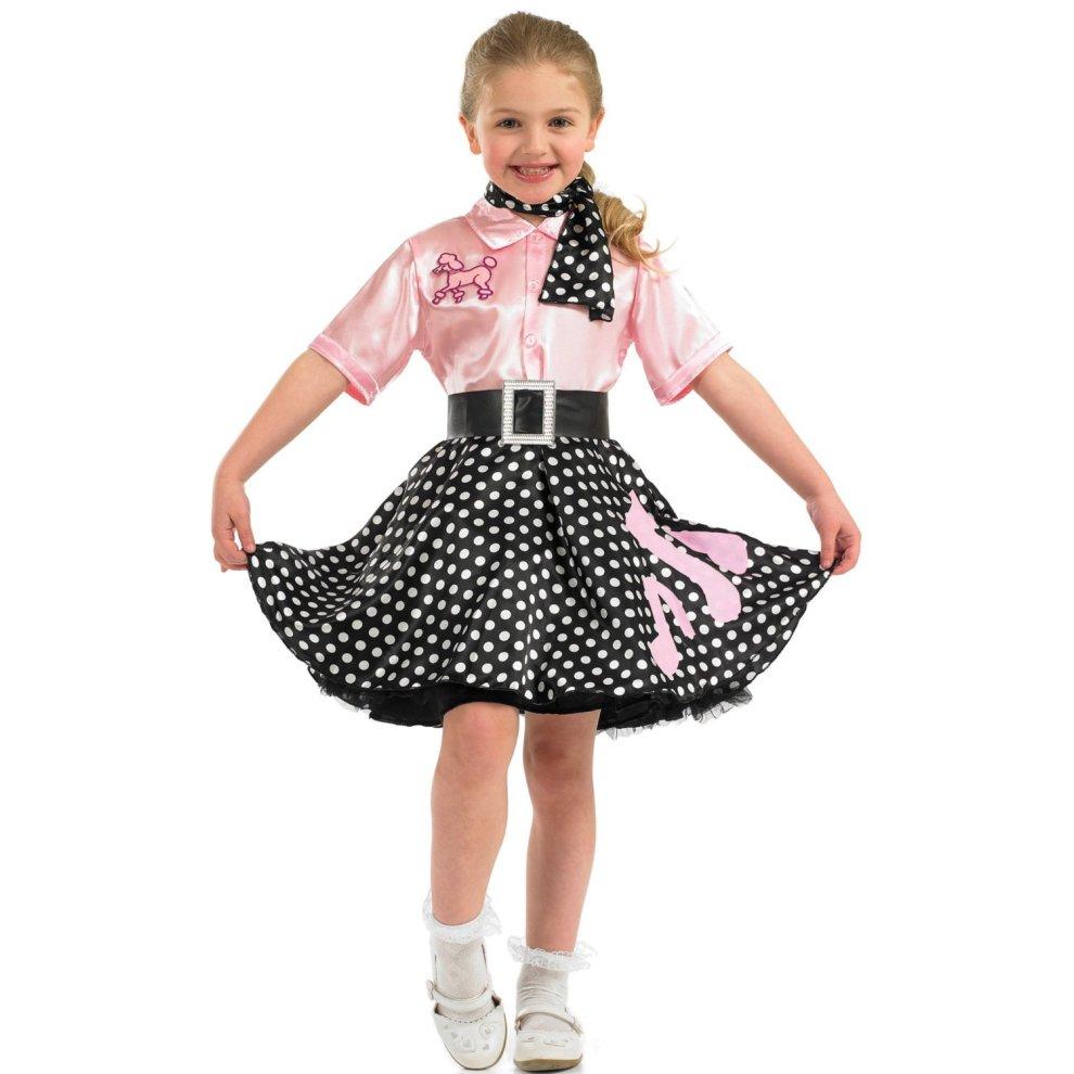 197d7c52883fd Large Children's Rock N Roll Costume - Dress Fancy Girls 50s Poodle Outfit  Kids - rock n roll dress costume fancy girls 50s poodle outfit kids on OnBuy