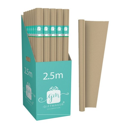 International Greetings Plain Kraft Wrapping Paper Rolls (Pack of 42)