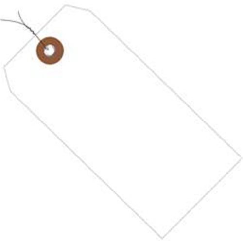 Box Partners G26057W 6.25 x 3.12 in. White Plastic Shipping Tags - Pre-Wired - Pack of 100