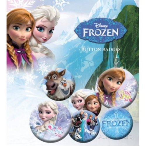 Frozen - Badge Set Button Gift -  frozen badge set button gift