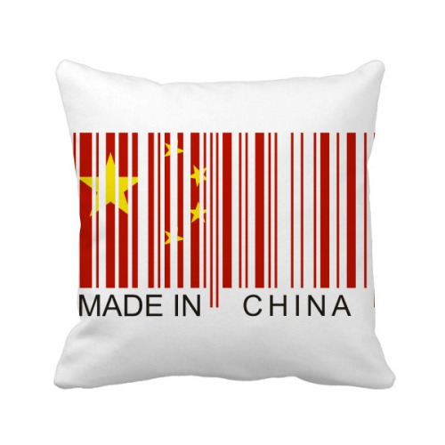 China Bar Code National Chinese Throw Pillow Square Cover
