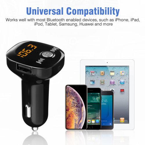Bluetooth Wireless Car FM Transmitter MP3 Player QC USB Charger