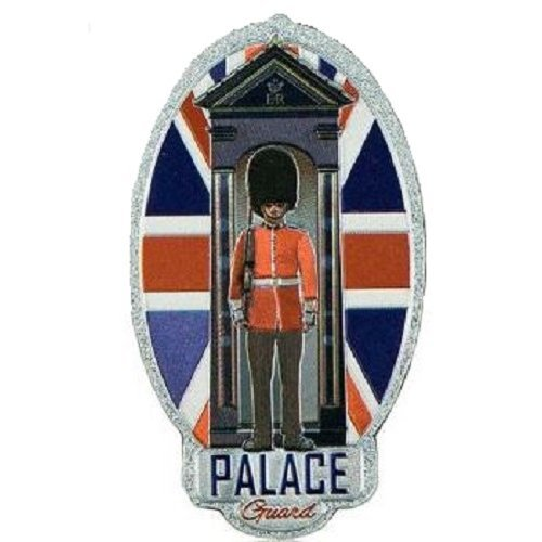 Palace Guardsman Fridge Magnet Foil Stamped Union Jack Flag Souvenir Gift Oval Royal Buckingham