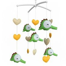 Cute Baby Musical Mobile with Crocodile Nursery Crib Musical Mobile