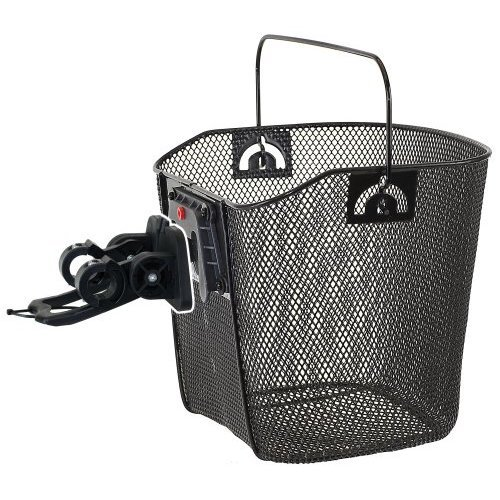 M Wave Wire Bicycle Basket With Clip On Bracket