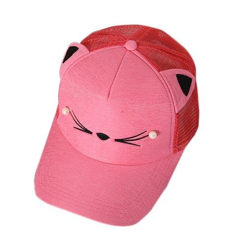 Cat Caps Fashion Caps Ladies Baseball Caps Sun Cap Women Golf Hats Red