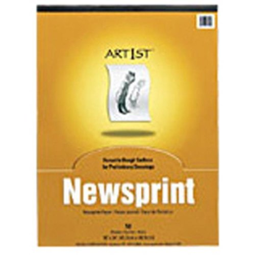 PACON CORPORATION PAC3445 ART1ST NEWSPRINT PAD 18X24 INCH 50 SHT