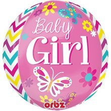 Orbz:Beautiful Baby Girl - Foil Balloons 2877601