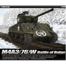 """Aca13500 - Academy 1:35 - M4a3 76mm Us Army """"battle of the Bulge"""""""