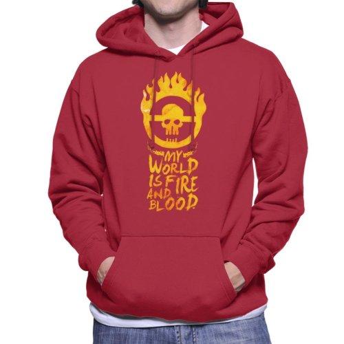 My World Is Fire Mad Max Fury Road Men's Hooded Sweatshirt