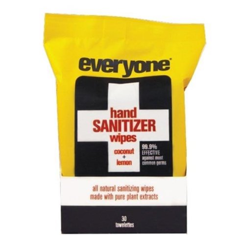 Everyone 1721273 Natural H Sanitizer Wipes with Coconut & Lemon - 30 Count