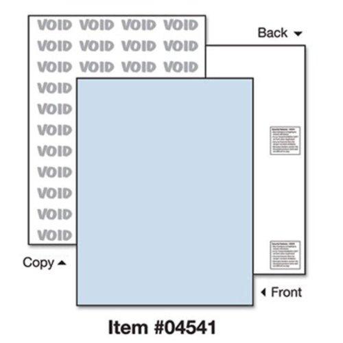Paris Business Products 04541 DocuGard Security Paper- Blue- 8-1/2 x 11- 500/Ream