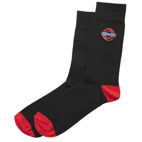 TFL6302 Mens Licensed Underground Roundel Embroidery Sock Size 6-11