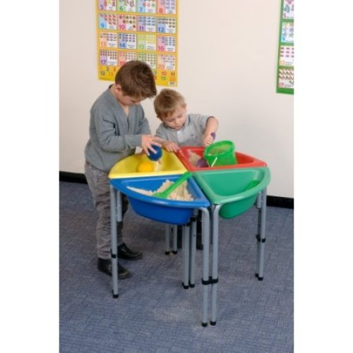 Childrens Sand & Water Triangle Play Tub Coloured - Tub Only