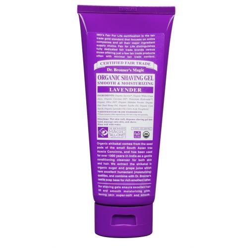 Dr Bronner Org Lavender Shaving  Soap 207ml