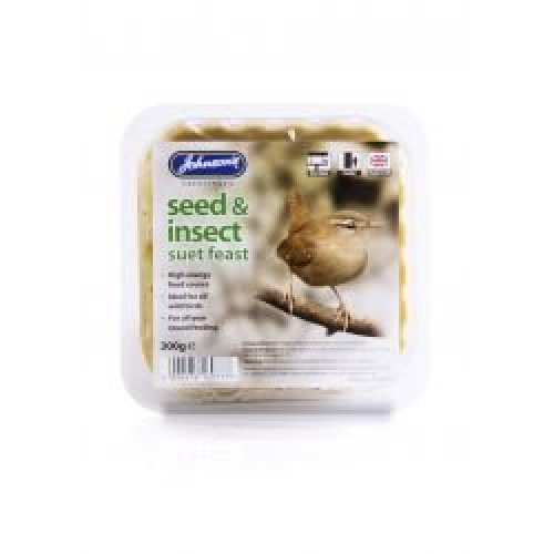 Johnson's Seed & Insect Suet Feast, 8 x 300g