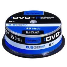 Intenso DVD+R, 8.5GB, 8x Speed, Dual Layer, Slim Case of 25