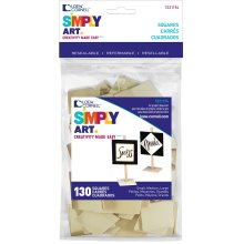 Simply Art Wood Shapes 130/Pkg-Squares