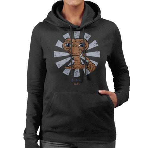 ET Extra Terrestrial Retro Japanese Women's Hooded Sweatshirt