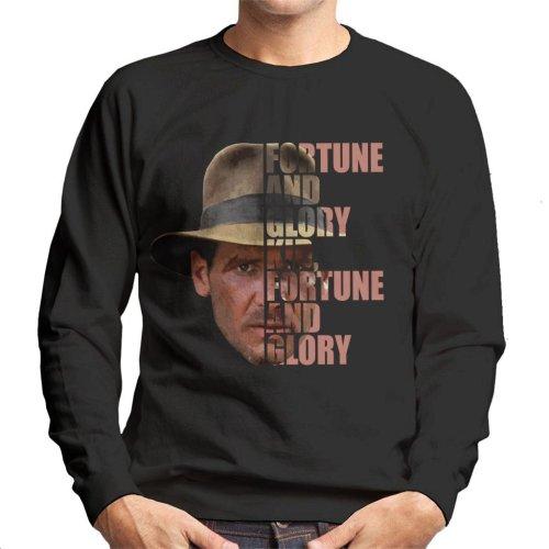 Indiana Jones Half Head Text Men's Sweatshirt
