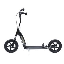 (Black) Homcom Kids' Ride-On Retro Scooter With Brakes