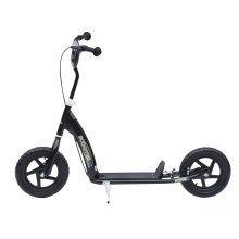 (Black) Homcom Kids' Ride-On Retro Scooter With Brakes