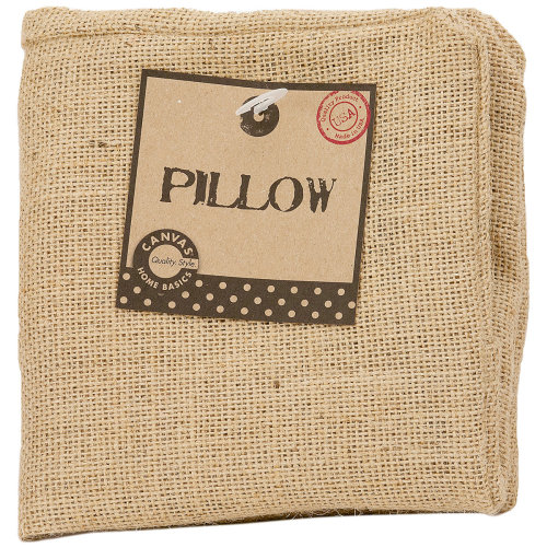 "Burlap Pillow Square 12""X12""-Natural"