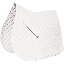 Roma Grand Prix High Wither All Purpose Saddle Pad: White: Pony