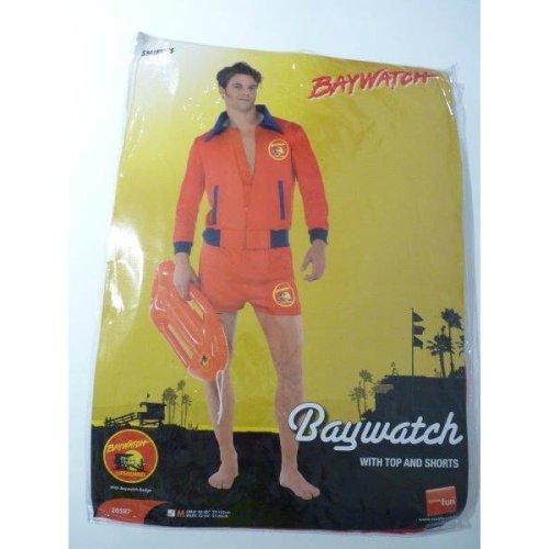 Medium Mens Baywatch Lifeguard Costume -  baywatch costume lifeguard mens fancy dress adult outfit tv beach smiffys licensed