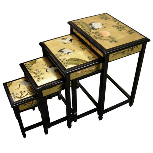 Chinese Gold Lacquer Table Nest