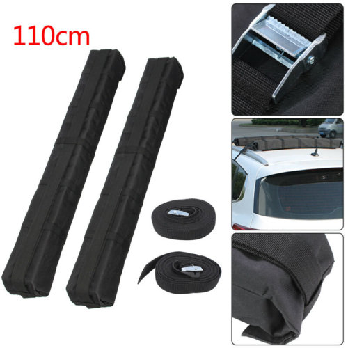 PAIR OF UNIVERSAL SOFT/PADDED CAR ROOF BARS LUGGAGE/KAYAK/SURFBOARD RACK CARRIER