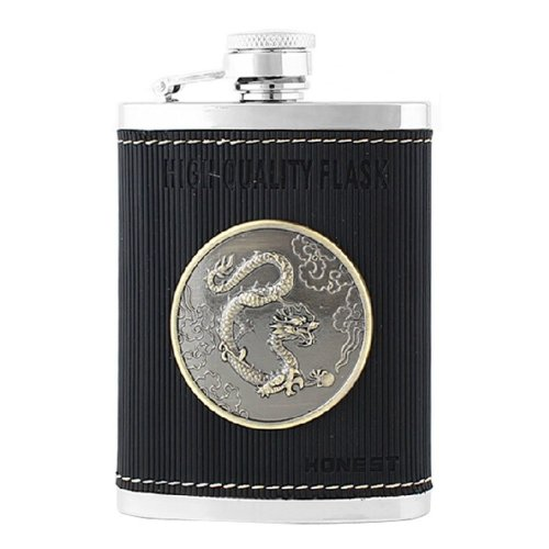 Creative Dragon Outdoor Portable Stainless Steel Hip Flask, 4oz
