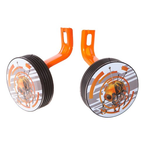 "12"" Wheel ROBOT RIDERS BIKE STABILISERS ORANGE/BLACK New (No fittings needed)"