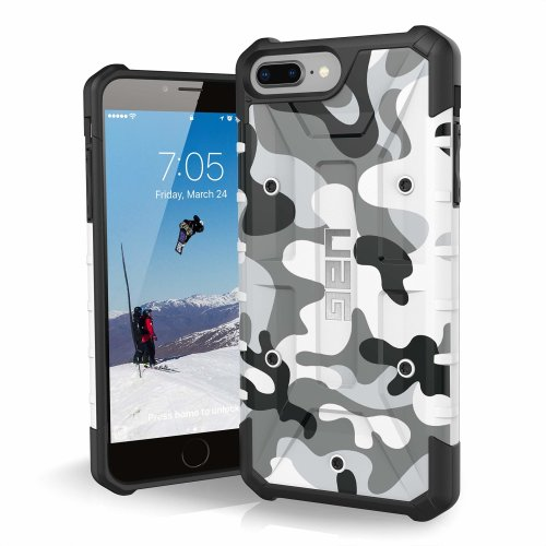 detailed look 2ff1a 4a87a Urban Armor Gear Pathfinder Camo Feather-Light Rugged Military Drop Tested  Case for iPhone 8/7/6S Plus - White