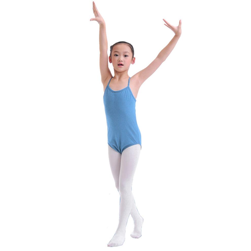 8695d41d7 BLUE Sun-Top Plain Ballet Dress Lycra Cotton Child Ballet Leotard ...
