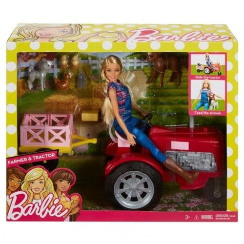 Mattel MTTFRM18 Barbie Doll with Tractor Baby Doll - 2 Piece