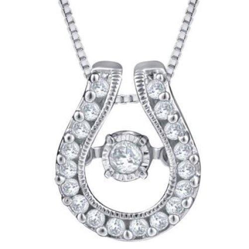 White Gold 14K 2.30 Carat Brilliant Shaped Diamonds Ladies Pendant Necklace