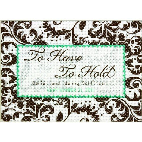 D70-65112 - Dimensions Stamped X Stitch - Treasured Words Wedding Record