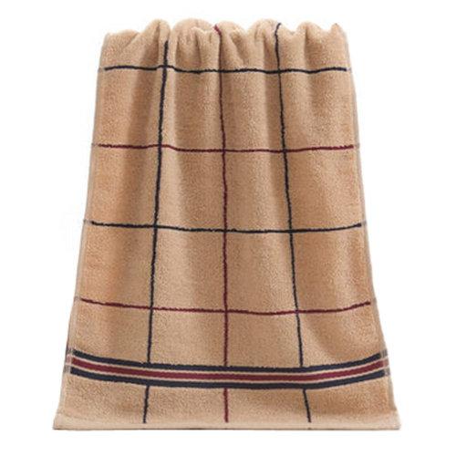 Strong Absorbency Cotton Soft Facecloth Towel Bath Towel,Khaki