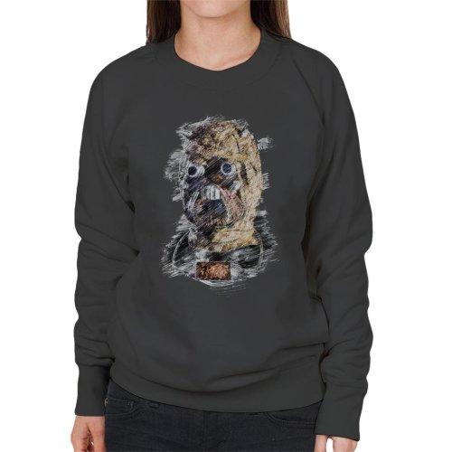 Original Stormtrooper Tusken Raider Mask Sketch Women's Sweatshirt